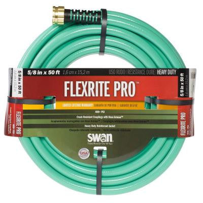FlexRITE Pro 5/8 in. Dia x 50 ft. Heavy Duty Water Hose
