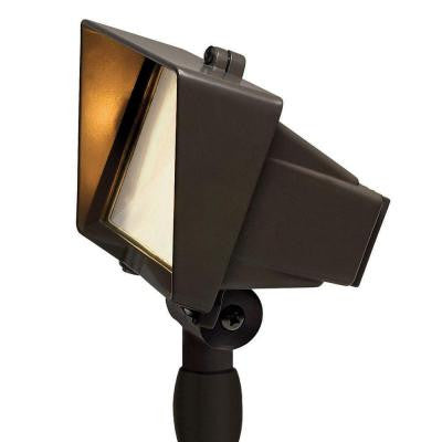 Low-Voltage Bronze 50-Watt Outdoor Flood Light