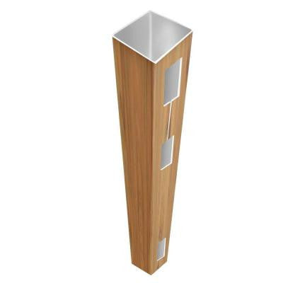 0.135 in. x 5 in. x 8.5 ft. Cypress Vinyl End Fence Post