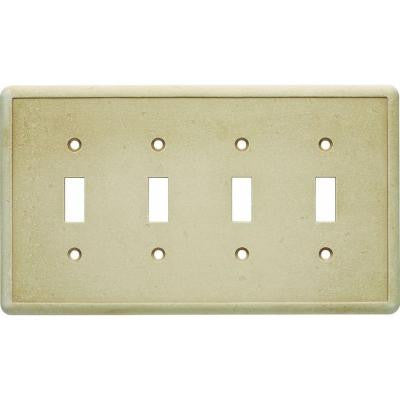 4 Toggle Wall Plate - Travertine