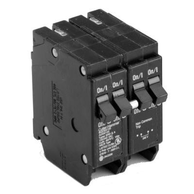 Type BR, BQ Quadplex Circuit Breaker, one 50A 2 pole and two 20A 1 poles