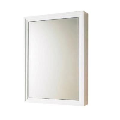 22 in. W x 30 in. H x 5 in. D Surface-Mount Medicine Cabinet in White