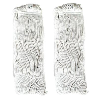 #36, 4-Ply Cotton Mop Head with Cut-Ends (2-Pack)