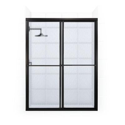 Newport Series 50 in. x 70 in. Framed Sliding Shower Door with Towel Bar in Oil Rubbed Bronze and Aquatex Glass