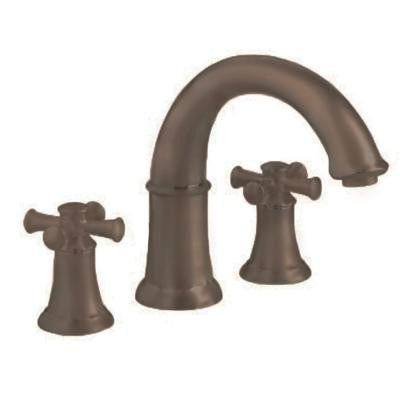 Portsmouth Cross 2-Handle Deck-Mount Roman Tub Faucet in Oil Rubbed Bronze