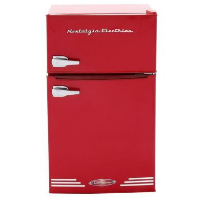 Retro Series 3.0 cu. ft. Mini Refrigerator with Freezer in Red