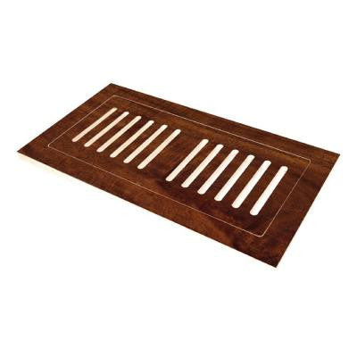 4 in. x 10 in. Engineered Hardwood Flush Mount Floor Register, Anzo Acacia