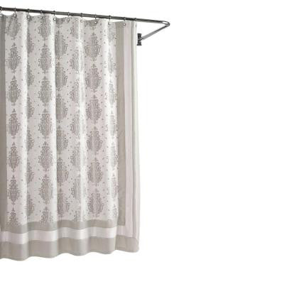 Roma Taupe 72 in. W Shower Curtain