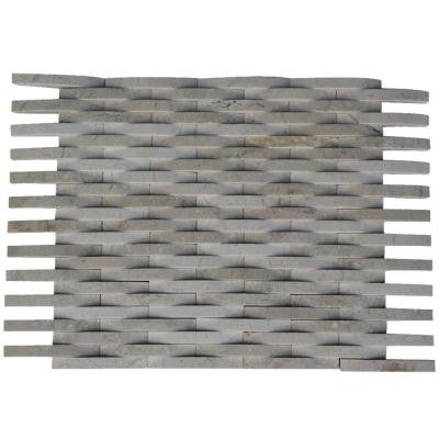 3D Reflex Crema Marfil 12 in. x 12 in. x 8 mm Stone Mosaic Floor and Wall Tile