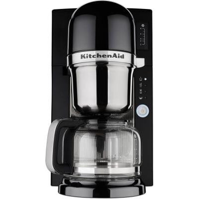 Coffee Brewer 8-Cup Pour Over Coffee Maker in Black