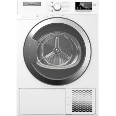 Heat Pump Ventless 4.1 cu. ft. Electric dryer in white with Chrome Door Trim