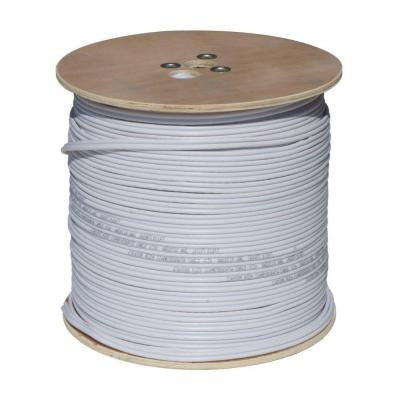 1000 ft. RG59 Siamese Video Cable with Power White
