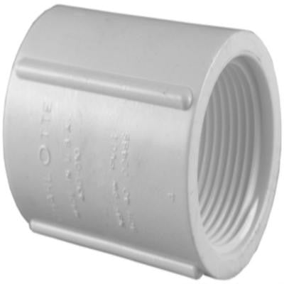 3/4 in. PVC Sch. 40 FPT x FPT Coupling