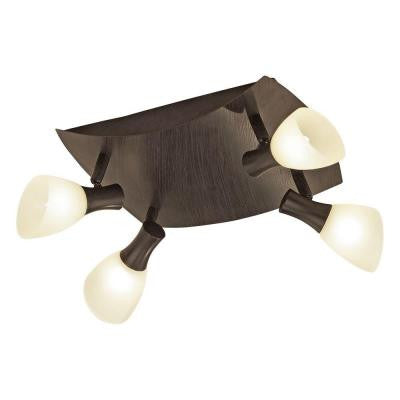Ona 1 - 4-Light Antique Brown Lighting Track