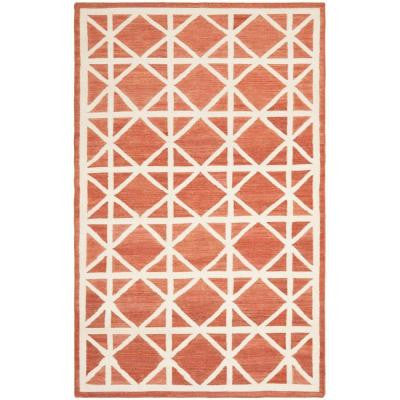 Dhurries Red/Ivory 9 ft. x 12 ft. Area Rug