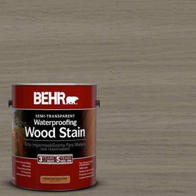 1-gal. #ST-154 Chatham Fog Semi-Transparent Waterproofing Wood Stain