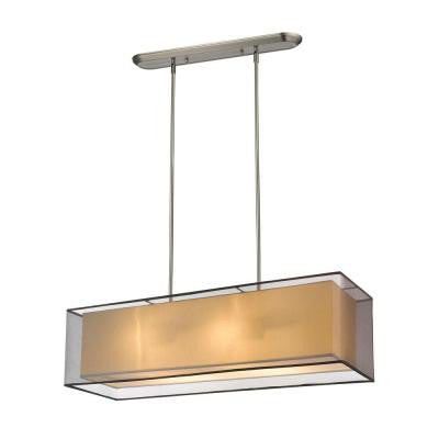 Reagan 4-Light Brushed Nickel Island Light