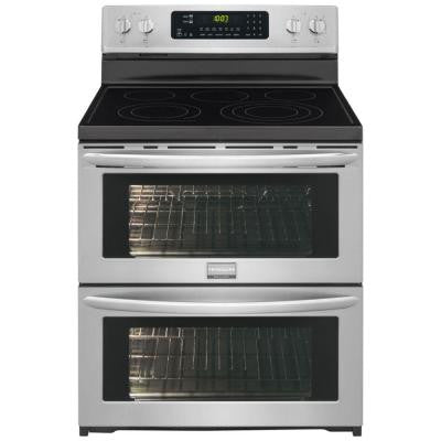 Gallery 7.0 cu. ft. Double Oven Electric Range Symmetry and True Convection in SmudgeProof Stainless Steel