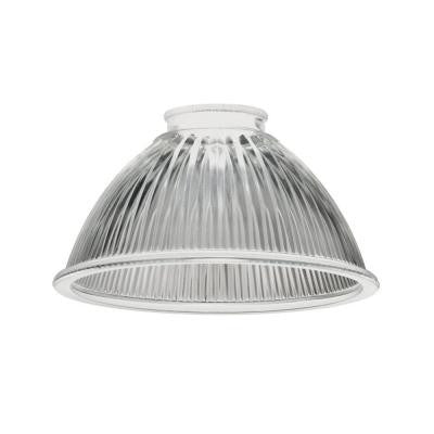 Clear Ribbed Glass Prismatic Shade for LED Mini Pendant