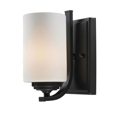 Lawrence 1-Light Oil-Rubbed Bronze Incandescent Sconce