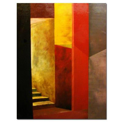 18 in. x 14 in. Mystery Stairwell Canvas Art