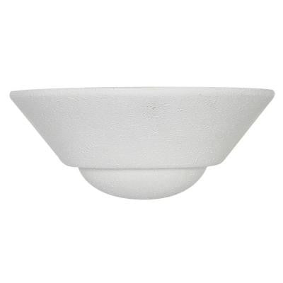 Kool 1-Light Textured White Sconce