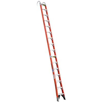 16 ft. Fiberglass Straight Posting Ladder with 300 lb. Load Capacity Type IA Duty Rating