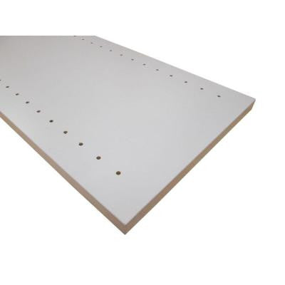 3/4 in. x 12 in. x 48 in. White Thermally-Fused Melamine Adjustable Side Panel