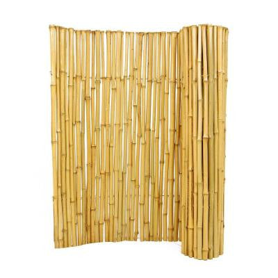 3/4 in. D x 3 ft. H x 6 ft. W Natural Bamboo Fence