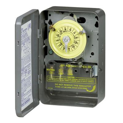 T100 Series 40 Amp 208-277-Volt DPST 24 Hour Mechanical Time Switch with Indoor Enclosure