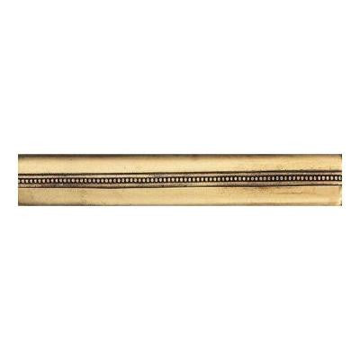 Massalia Bullion 1 in. x 6 in. Metal Bead Liner Wall Tile