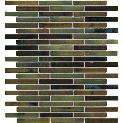 Fashion Accents Illumini Meadow 12 in. x 12 in. x 8mm Random Porcelain Mosaic Wall Tile