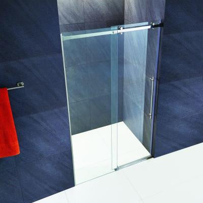Luca 60 in. x 74 in. Frameless Fixed Shower Door with Hardware in Chrome and 3/8 in. Clear Glass