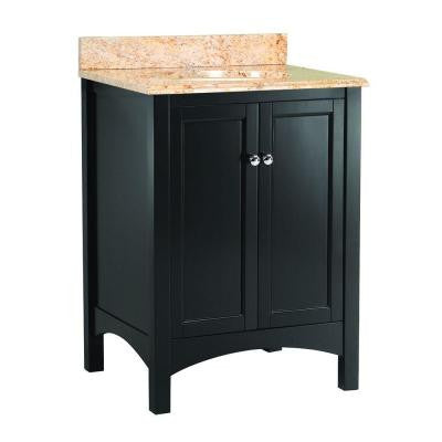 Haven 25 in. W x 22 in. D Vanity in Espresso with Vanity Top and Stone Effects in Tuscan Sun