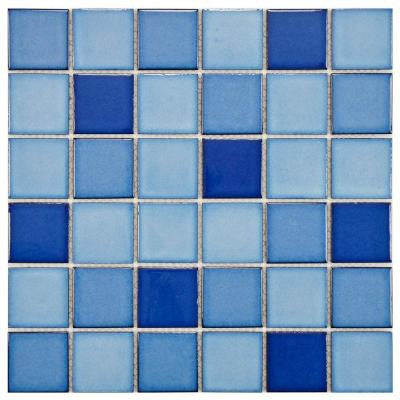 Oceania Quad Marine 11-7/8 in. x 11-7/8 in. x 6 mm Porcelain Mosaic Tile