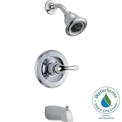 Classic 1-Handle Thermostatic Tub and Shower Faucet Trim Kit in Chrome (Valve Not Included)