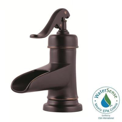Ashfield 4 in. Centerset Single-Handle Bathroom Faucet in Tuscan Bronze