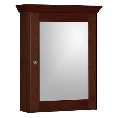 Shaker 19 in. W x 6.5 in. D x 27 in. H Single Door Medicine Cabinet in Dark Alder