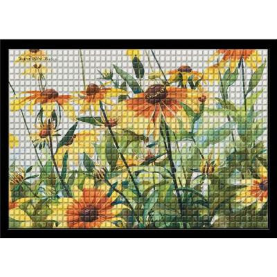 Black Eyed Susans 24 in. x 36 in. WheatherGuard Mat