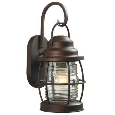 Harbor 1-Light Copper Outdoor Small Wall Lantern