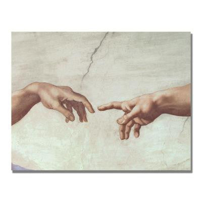 24 in. x 32 in. Hands of God Canvas Art