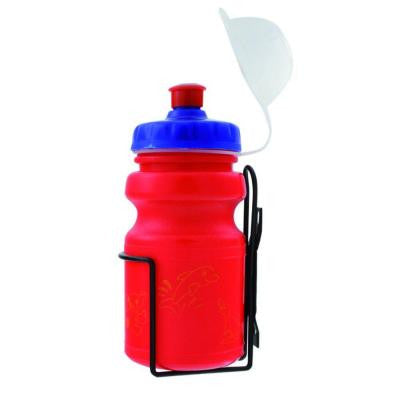 12 oz. Red Children's Bicycle Water Bottle and Cage Set