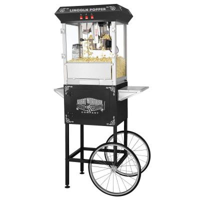 Lincoln Full Popcorn Popper Machine and Cart