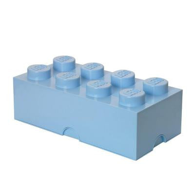 Storage Brick 8 - 9.84 in. D x 19.76 in. W x 7.12 in. H Stackable Polypropylene in Light Royal Blue