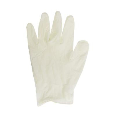 White Latex Gloves in Dispenser Box - Large (100-Count)