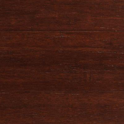 Strand Woven Dark Mahogany 3/8 in. x 5-1/8 in. Wide x 36 in. Length Click Engineered Bamboo Flooring (25.625 sq.ft/case)