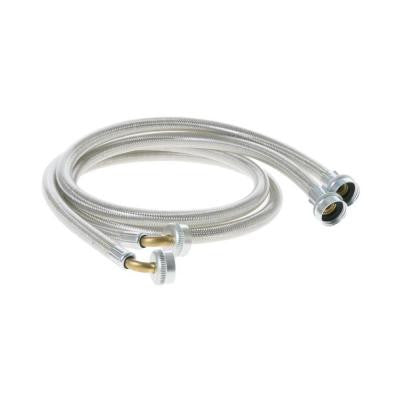 4 ft. Universal Stainless Steel Washer Hoses