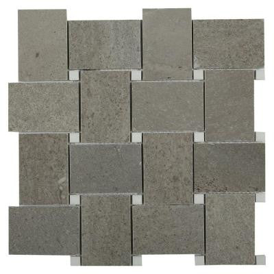 Orchard Lady Gray with Crystal White Marble Mosaic Tile - 3 in. x 6 in. Tile Sample