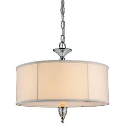 Waterton Collection 3-Light Chrome Large Pendant