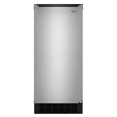Gold 15 in. 50 lb. Built-In Ice Maker in Stainless Steel